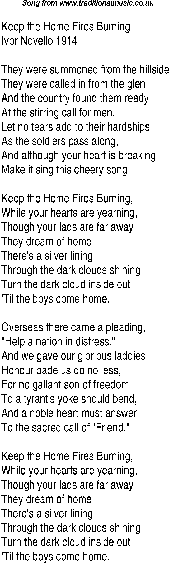 Lyrics containing the term: 1940s