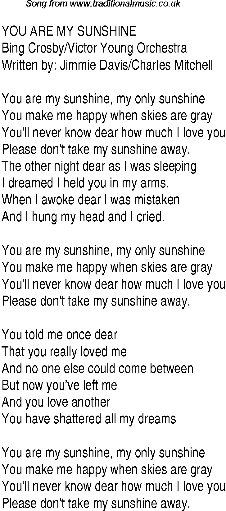 You are my honey bunch lyrics