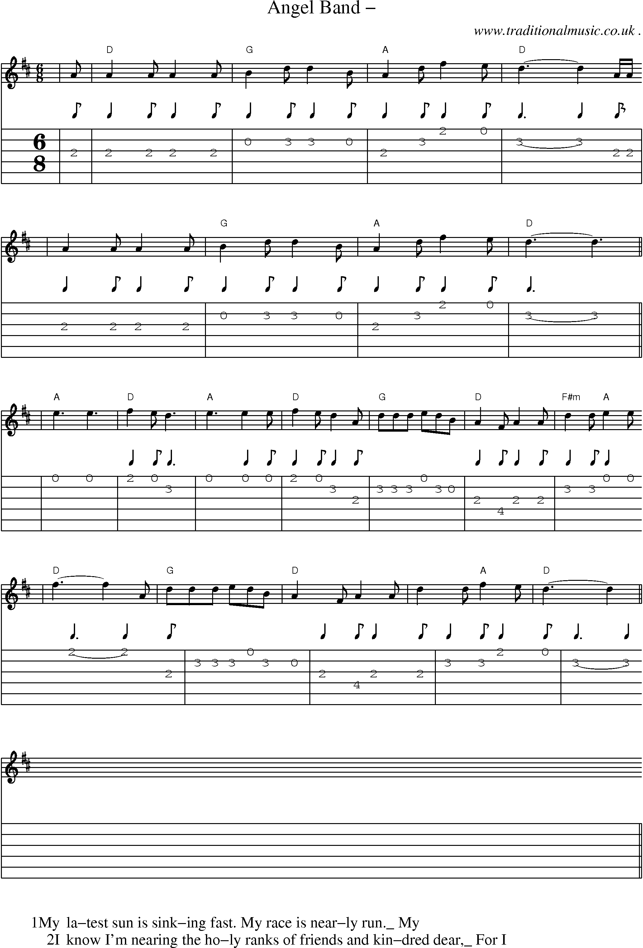 american old time music scores and tabs for guitar angel band. Black Bedroom Furniture Sets. Home Design Ideas