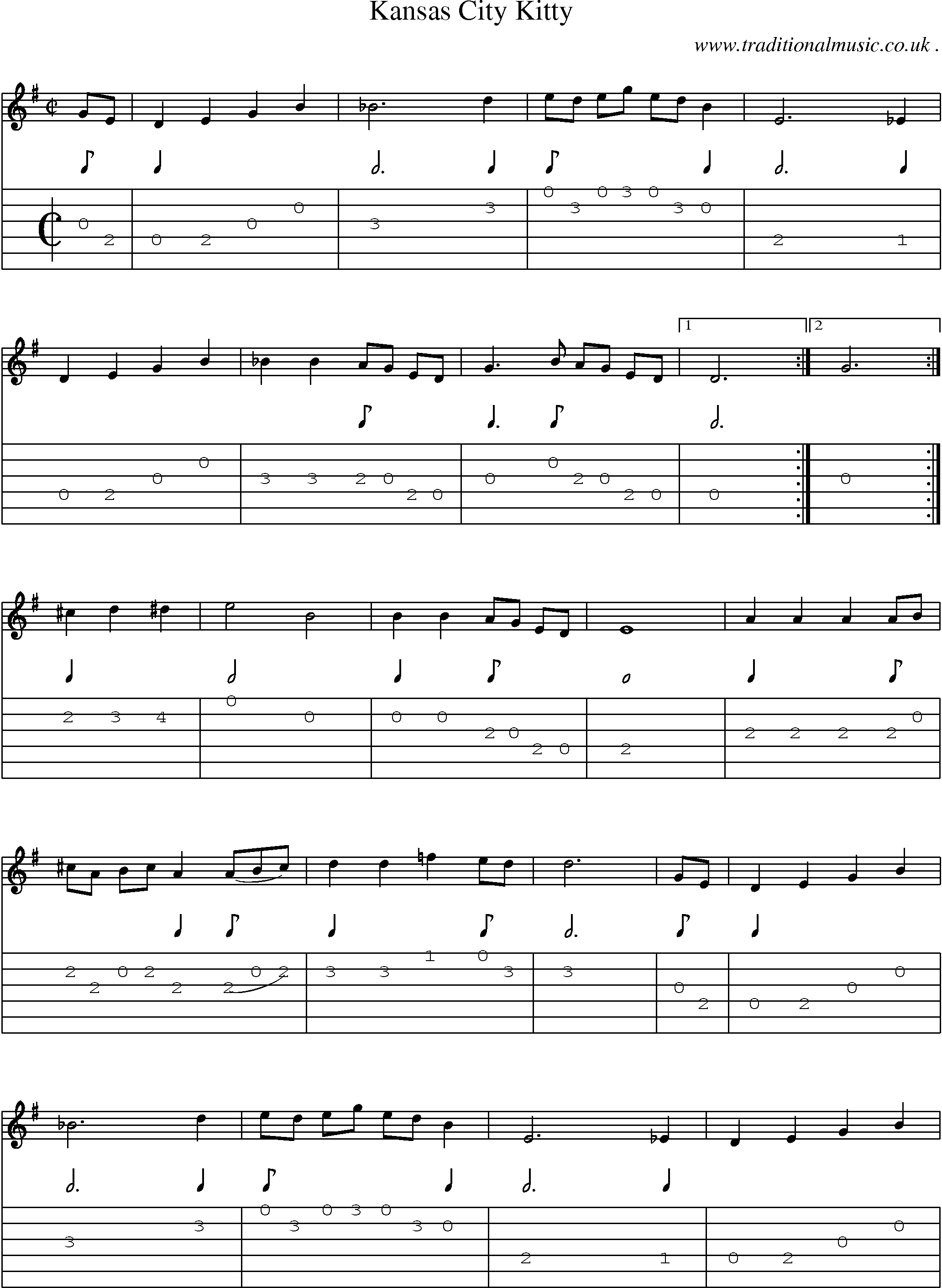 American Old-time music, Scores and Tabs for Guitar