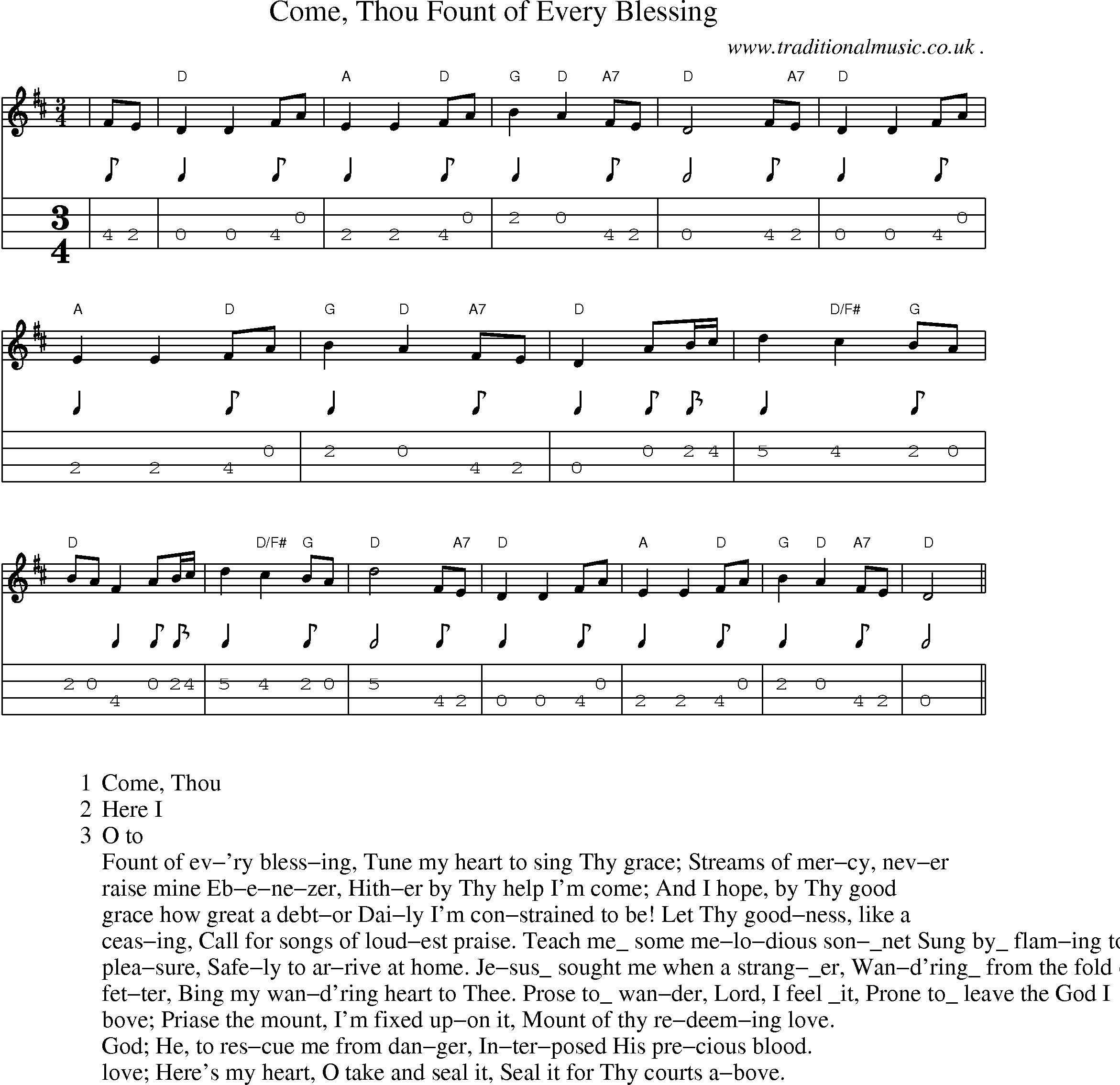 American Old Time Music Scores And Tabs For Mandolin Come Thou