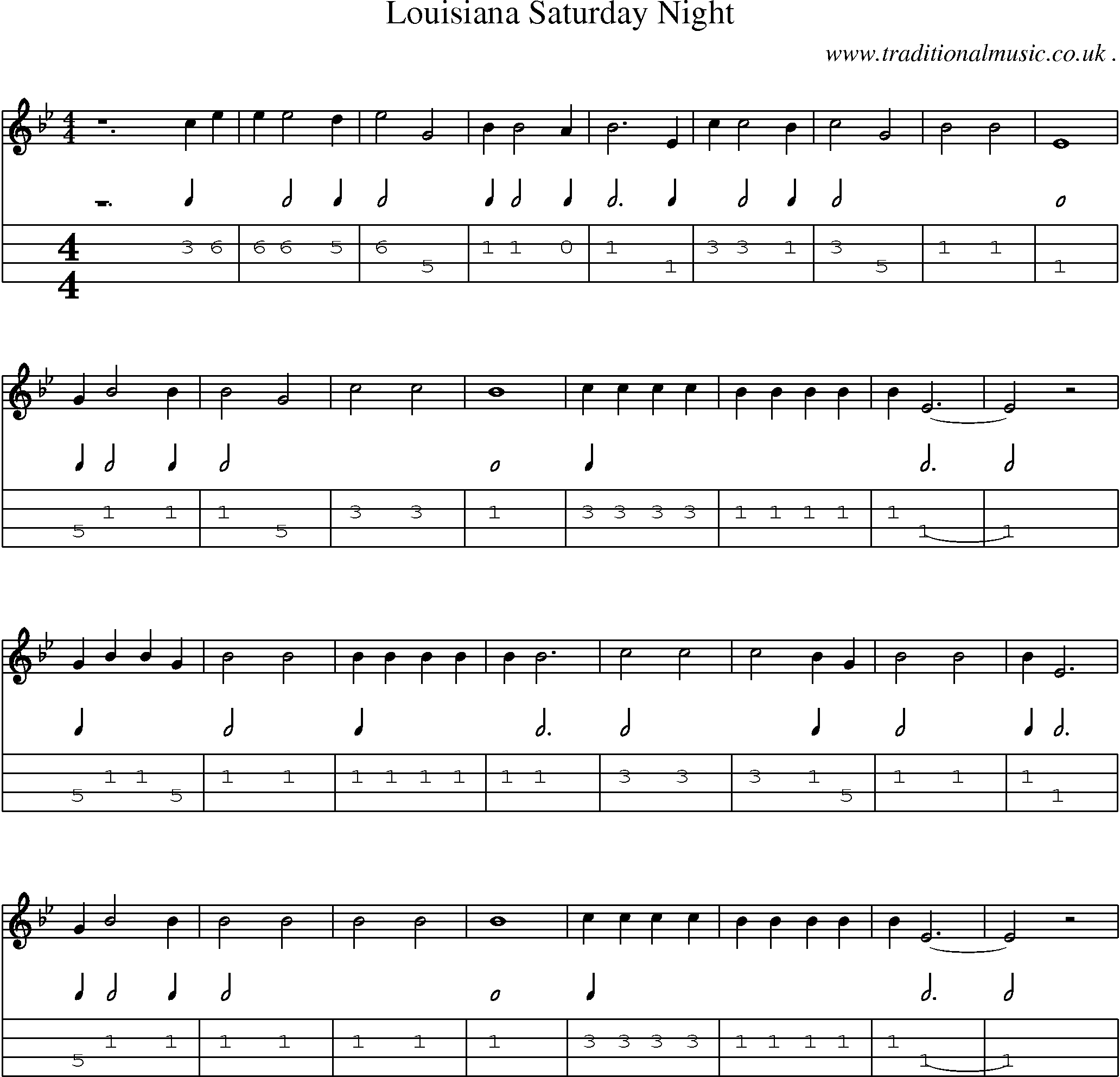 American Old time music, Scores and Tabs for Mandolin   Louisiana ...