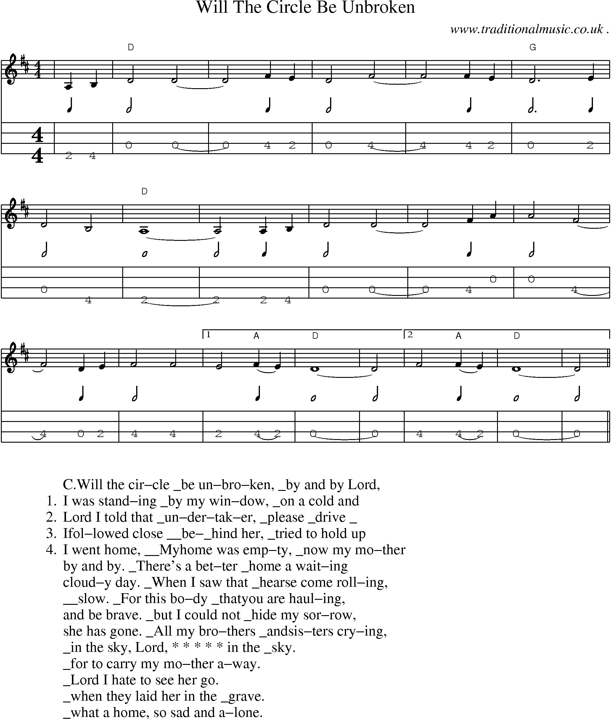 Mandolin chords will the circle be unbroken music sheets chords american old time music scores and tabs for mandolin will the circle be hexwebz Image collections