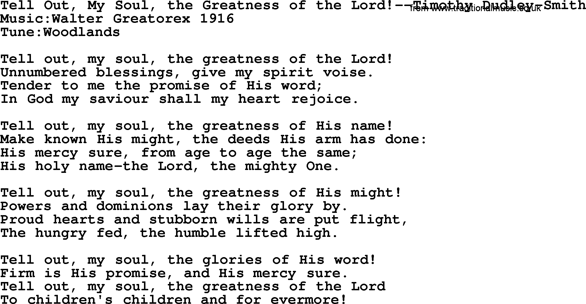 The greatness of the lord lyrics