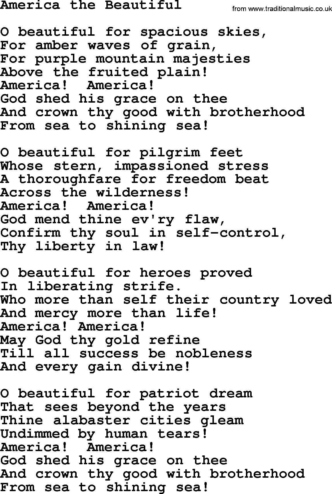 american christian song lyrics