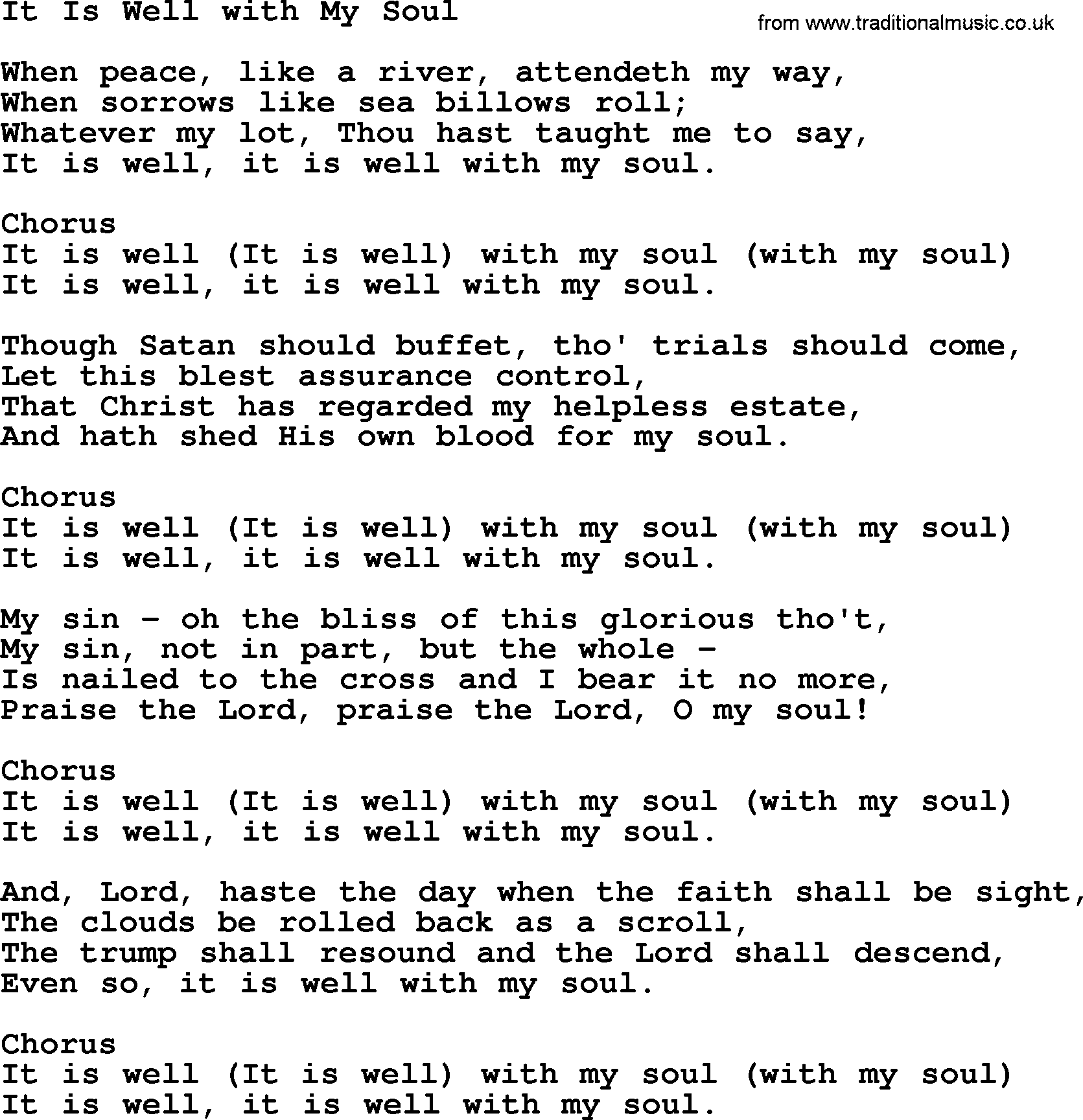 The well christian song