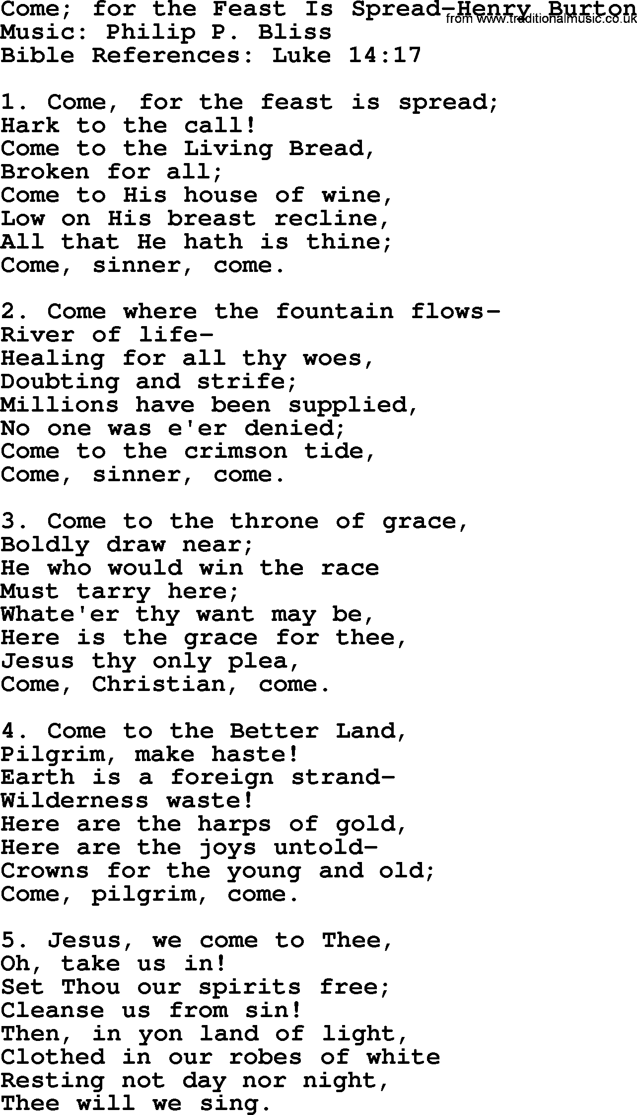 come to the feast pdf