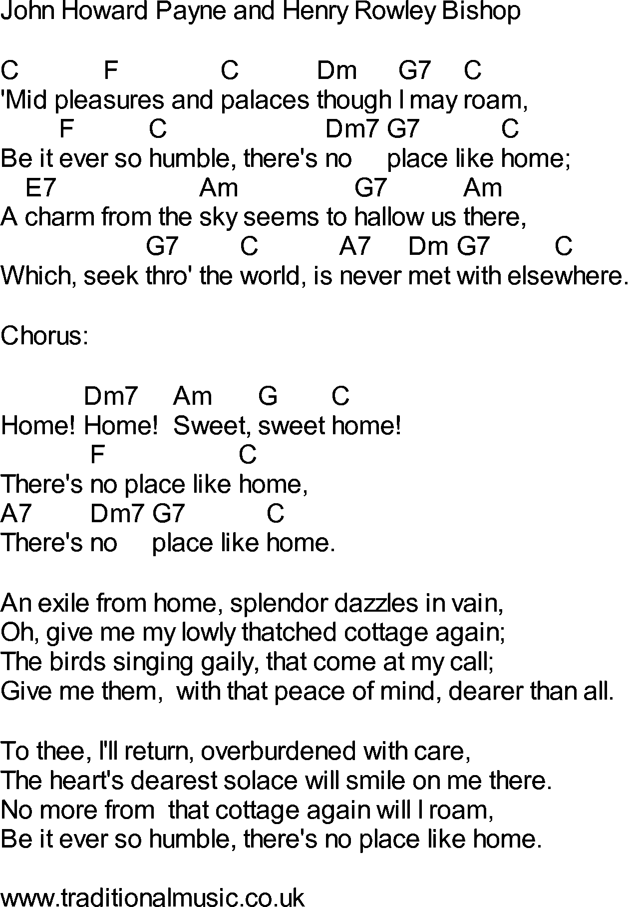 Bluegrass songs with chords  Home, Sweet Home