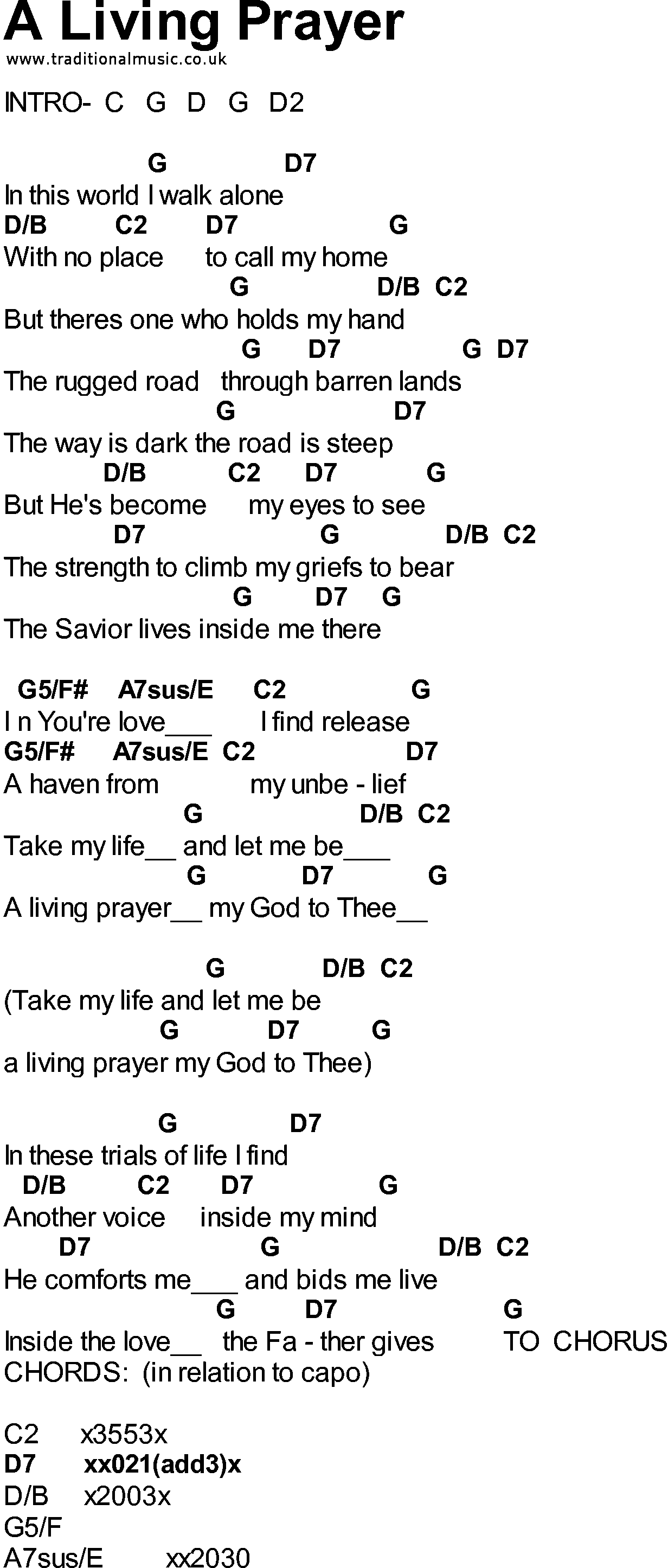 Bluegrass Songs With Chords A Living Prayer