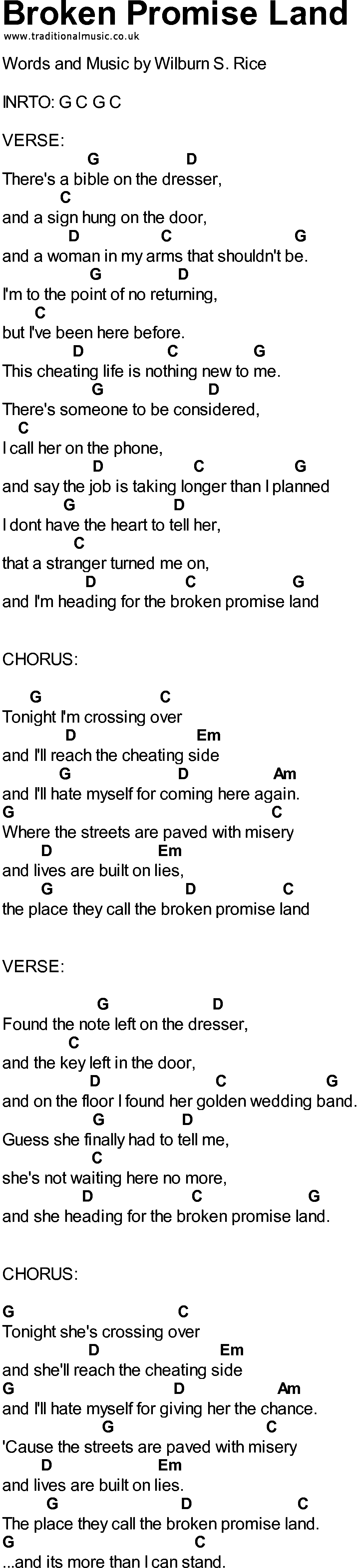 Songs with chords broken promise land bluegrass songs with chords broken promise land hexwebz Gallery