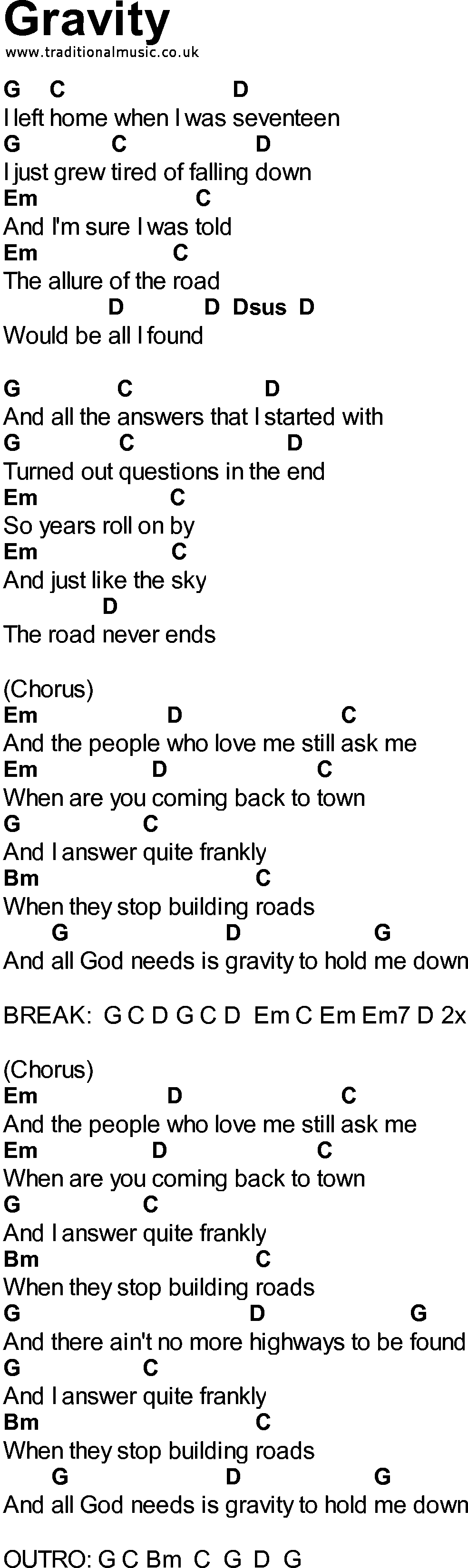 Songs with chords gravity bluegrass songs with chords gravity hexwebz Images