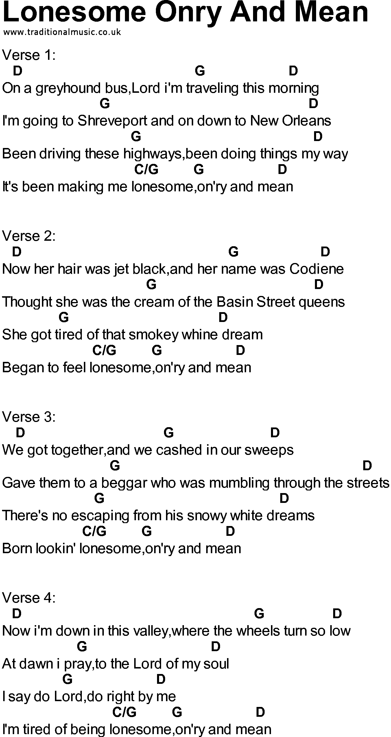 Songs with chords lonesome onry and mean bluegrass songs with chords lonesome onry and mean hexwebz Choice Image