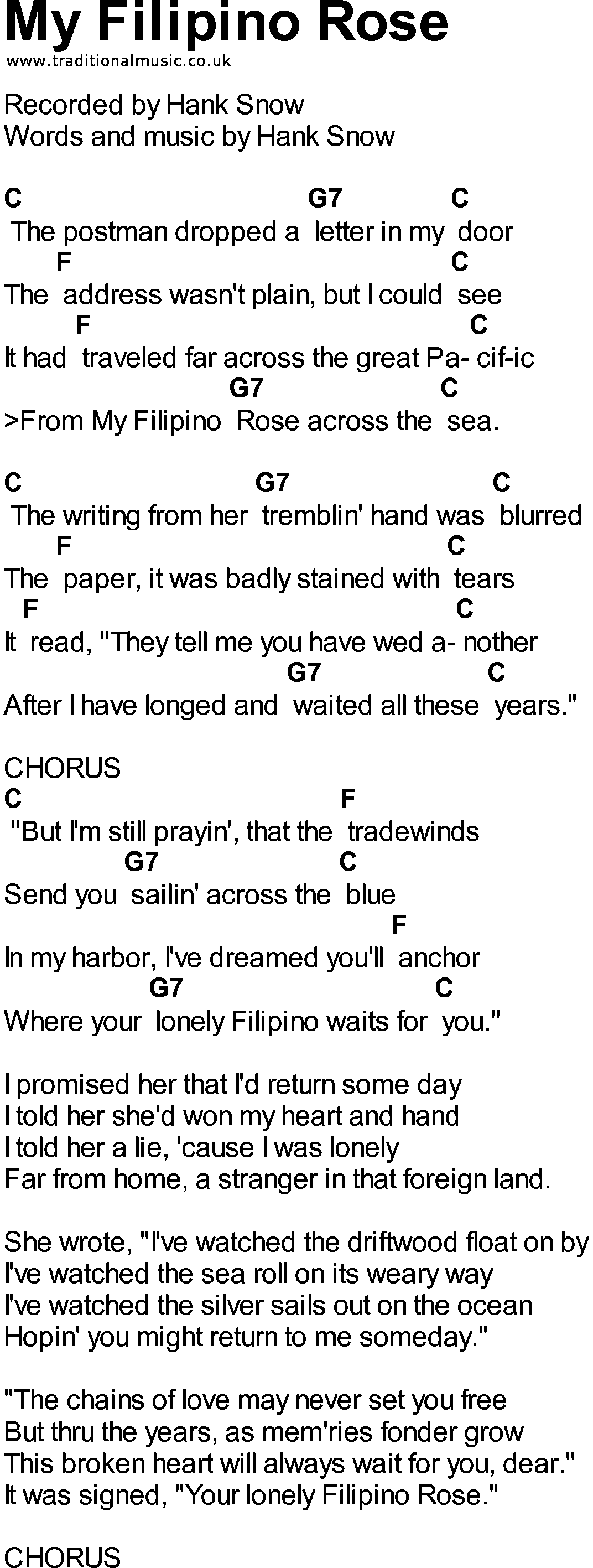 bluegrass songs with chords my filipino rose