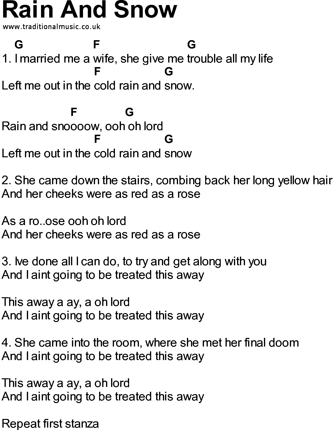 Songs with chords rain and snow bluegrass songs with chords rain and snow hexwebz Image collections