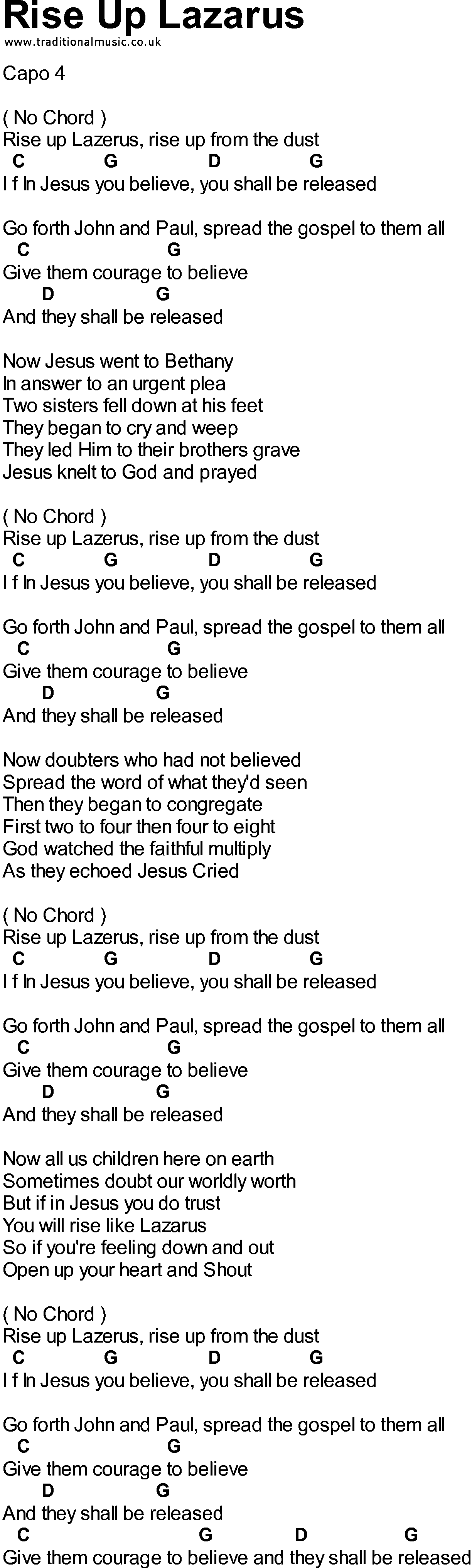 may the lord rise to meet you chords