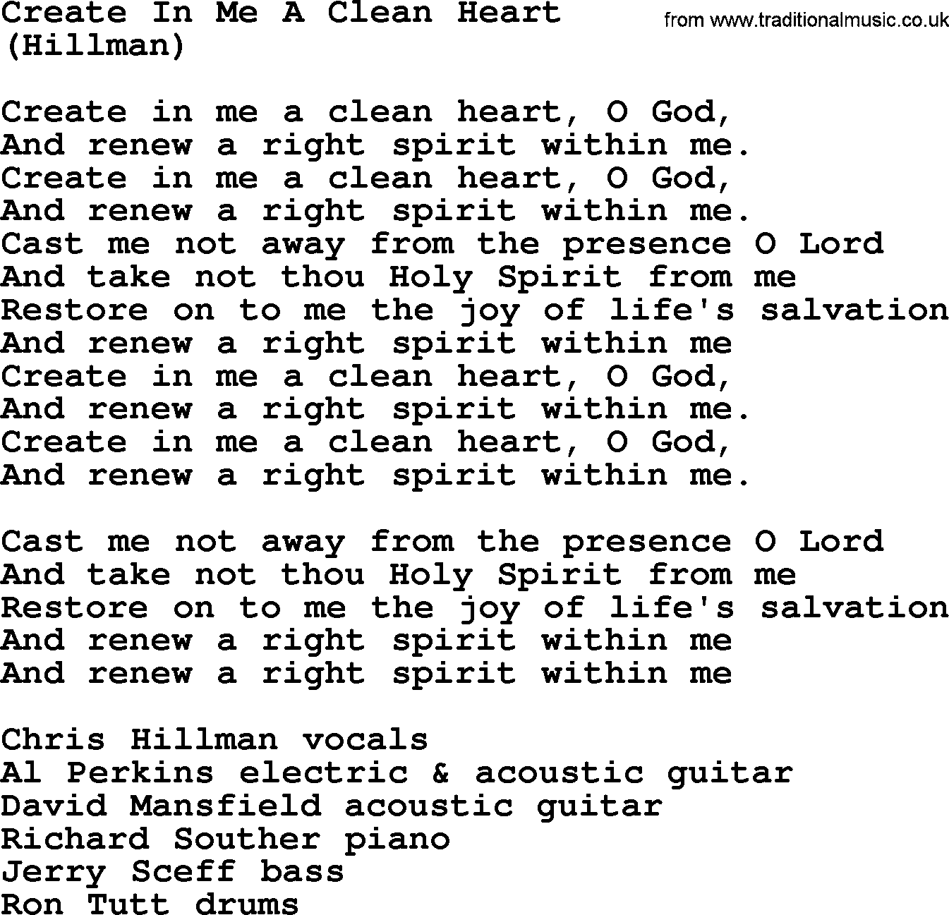 TIDES OF MAN - CREATE LYRICS - songlyrics.com
