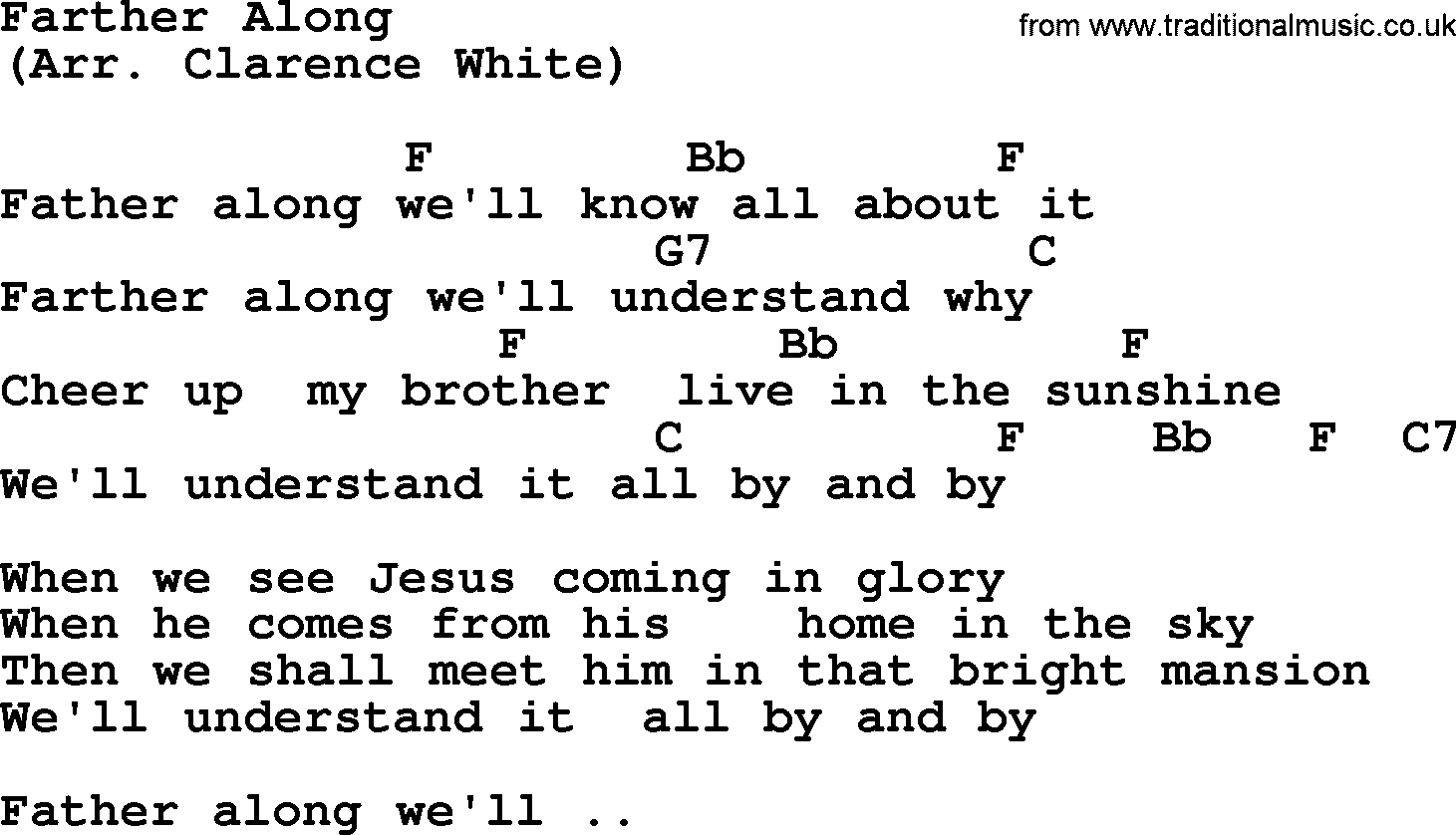 Farther Along By The Byrds Lyrics And Chords