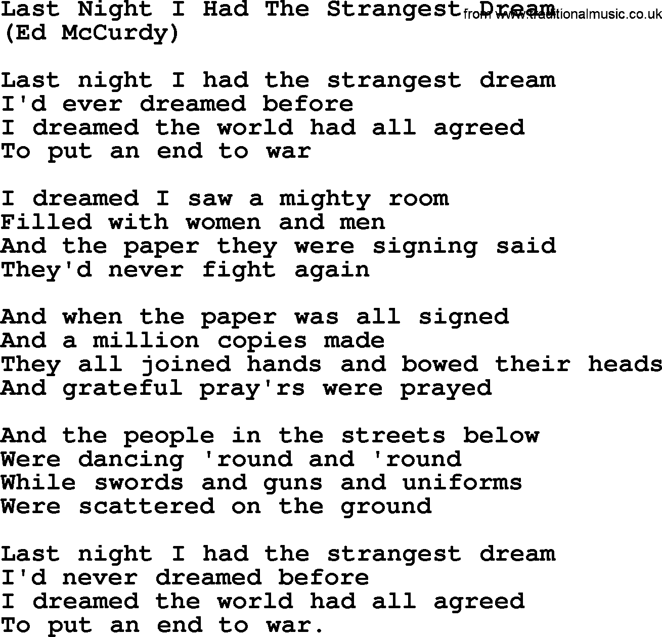Last Night I Dreamed Of Heaven lyrics and chords are intended for your personal use only this is a very nice country gospel written and recorded by Hank