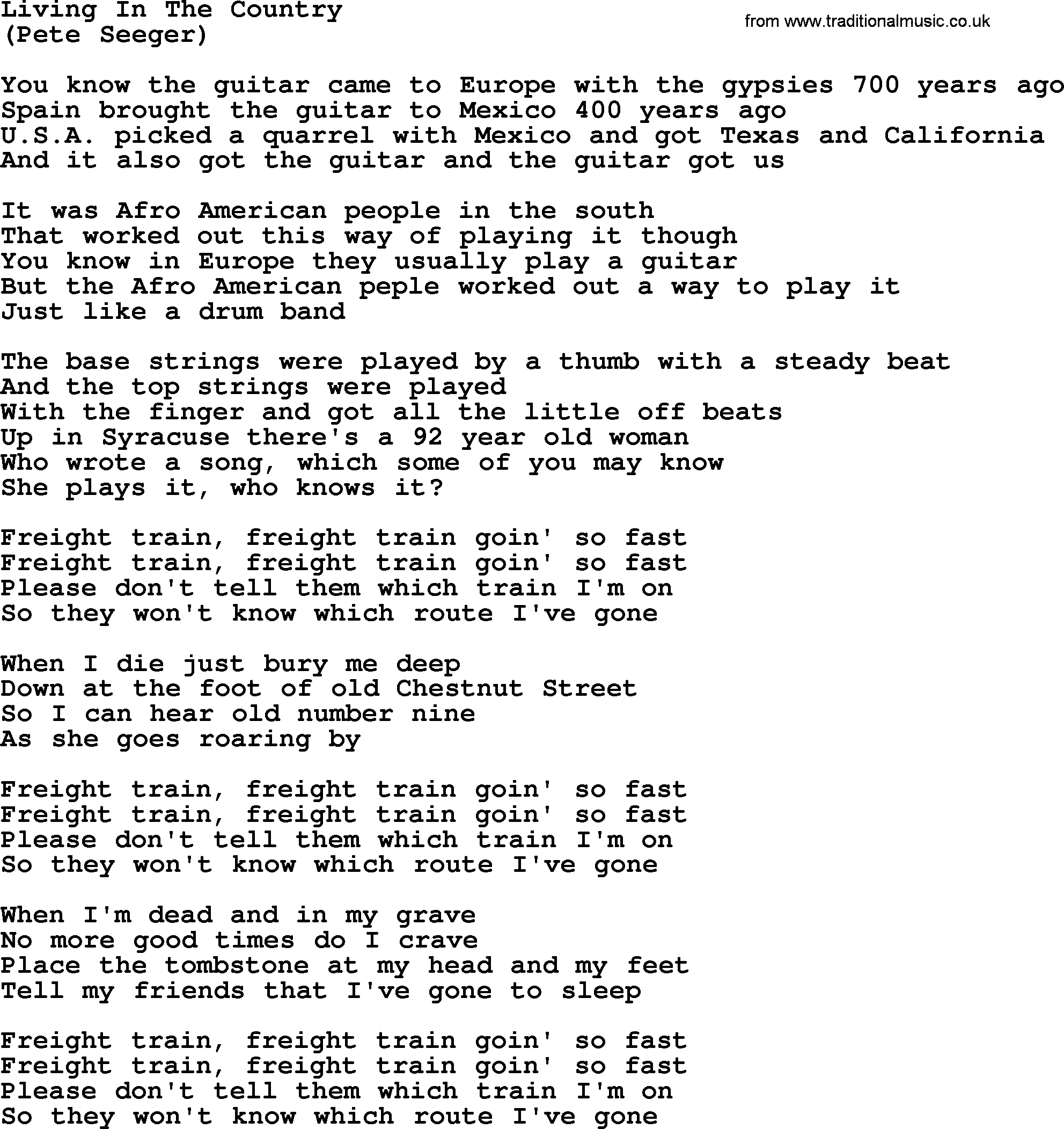 Living In The Country, by The Byrds   lyrics with pdf