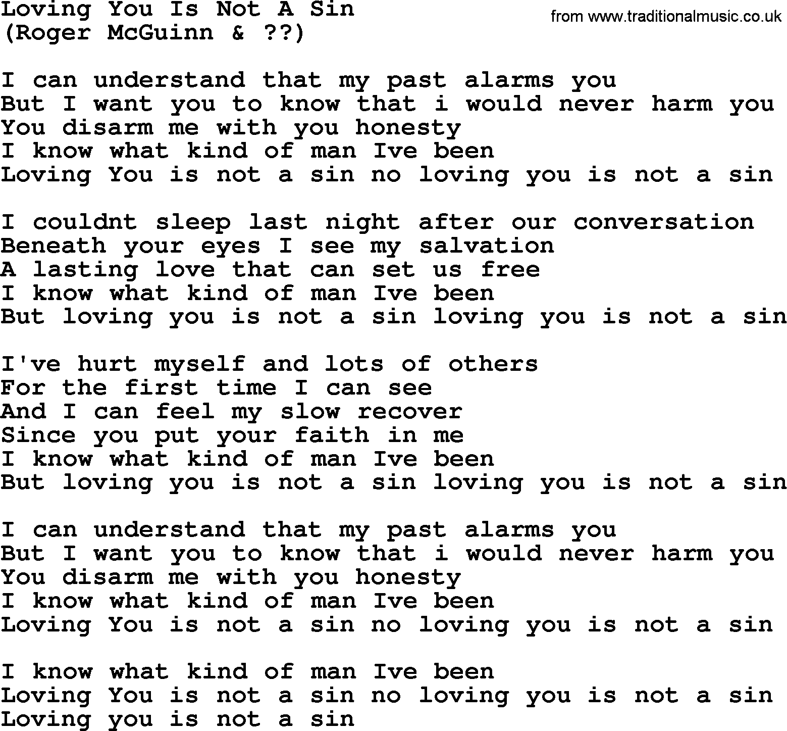 Loving you is not a sin by the byrds lyrics with pdf the byrds song loving you is not a sin lyrics hexwebz Image collections