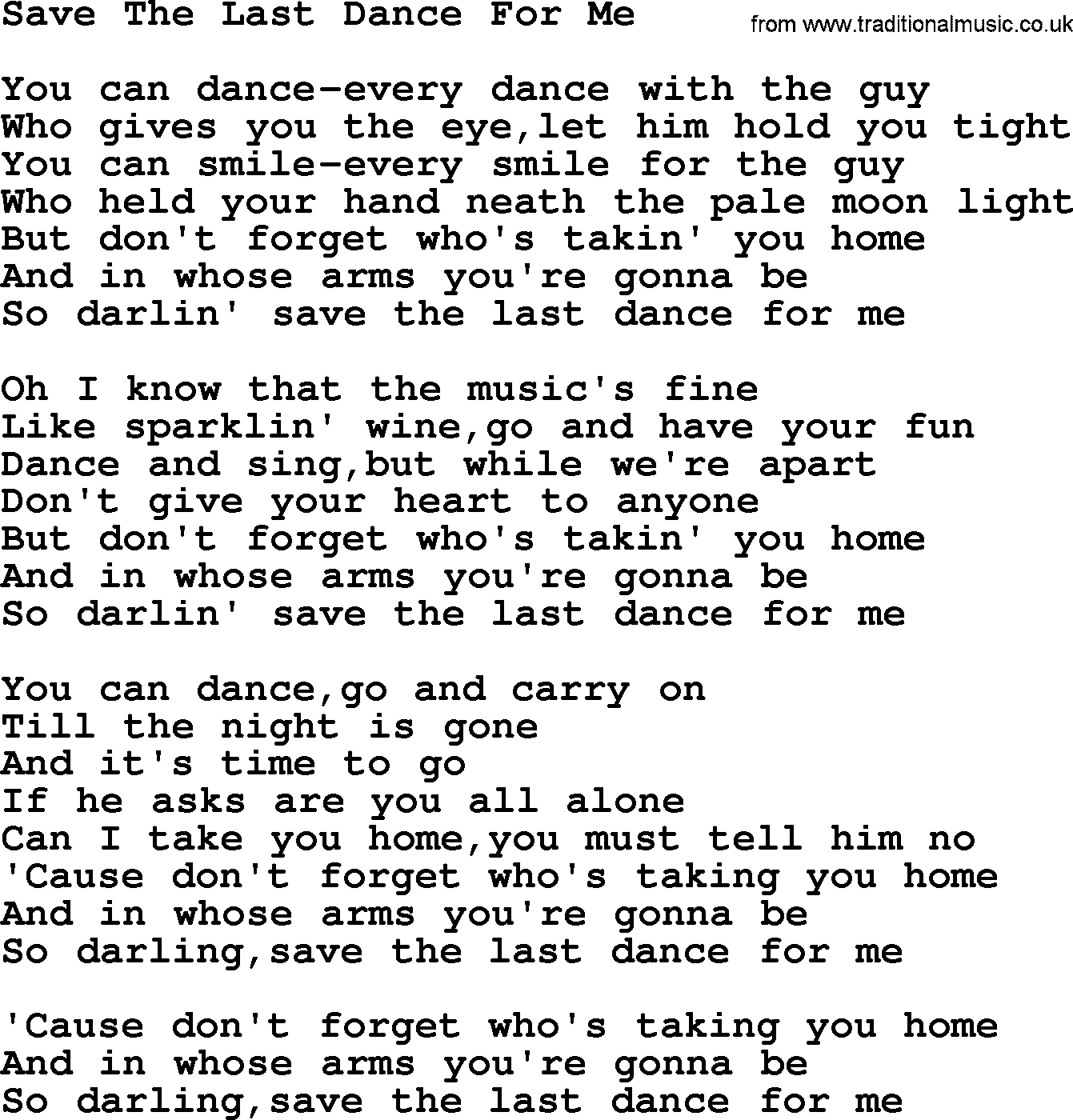 Pavlov's Dog - Song Dance Lyrics | MetroLyrics
