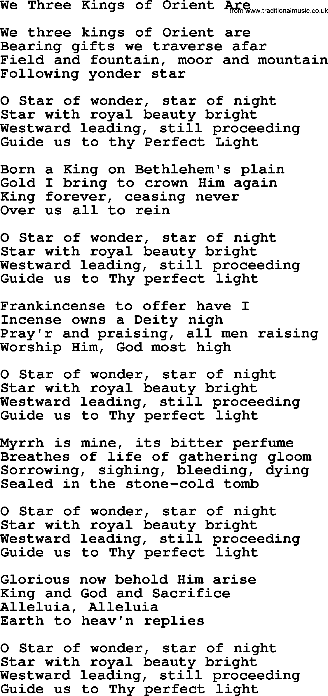 We three kings of orient are by the byrds lyrics with pdf the byrds song we three kings of orient are lyrics hexwebz Gallery