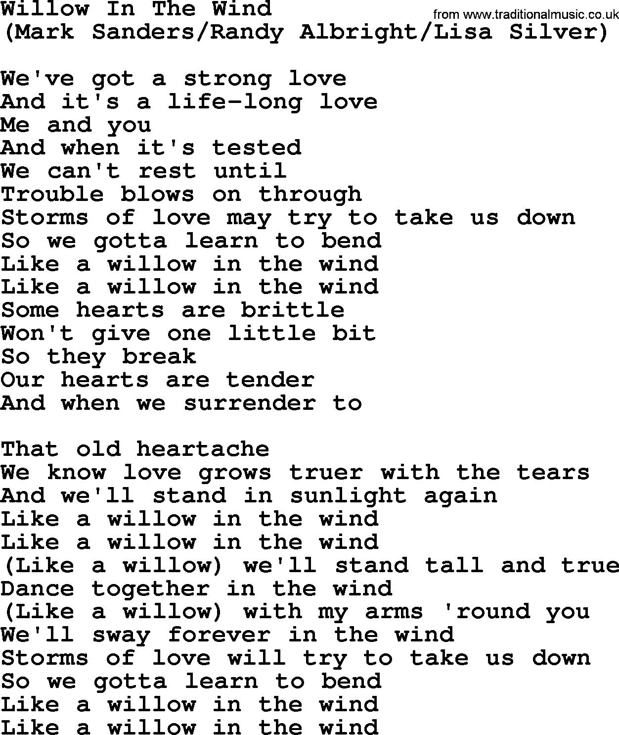 Willow In The Wind, By The Byrds