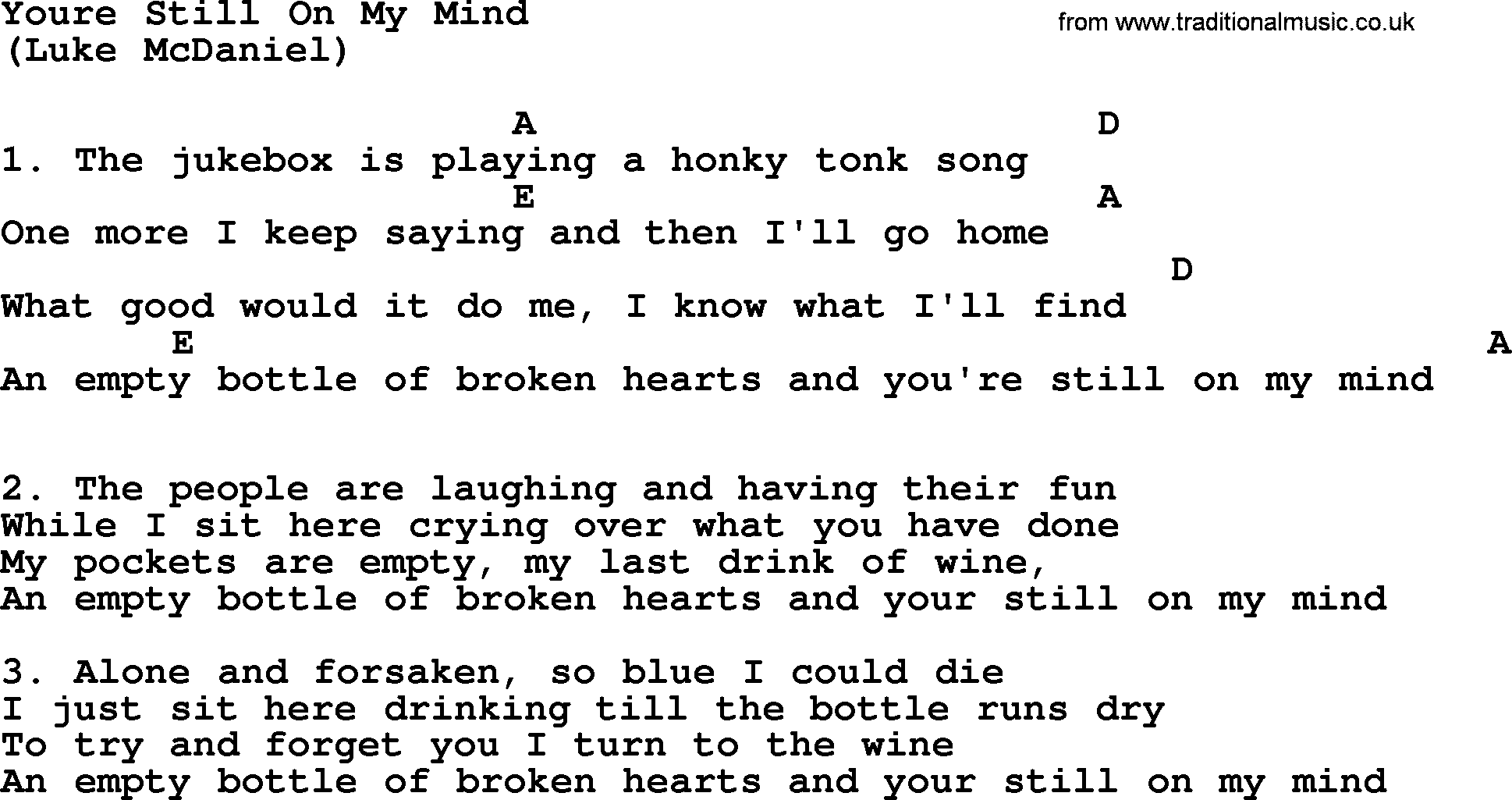 You re still on my mind by the byrds lyrics and chords the byrds song you re still on my mind lyrics and chords hexwebz Gallery