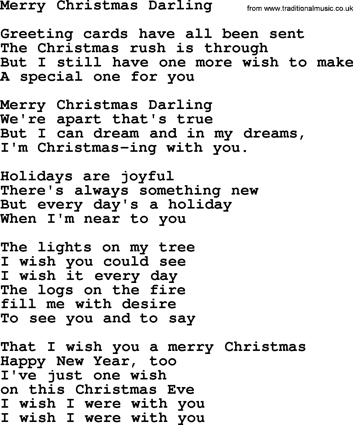 Catholic hymns song merry christmas darling lyrics and pdf catholic hymn merry christmas darling lyrics with pdf m4hsunfo