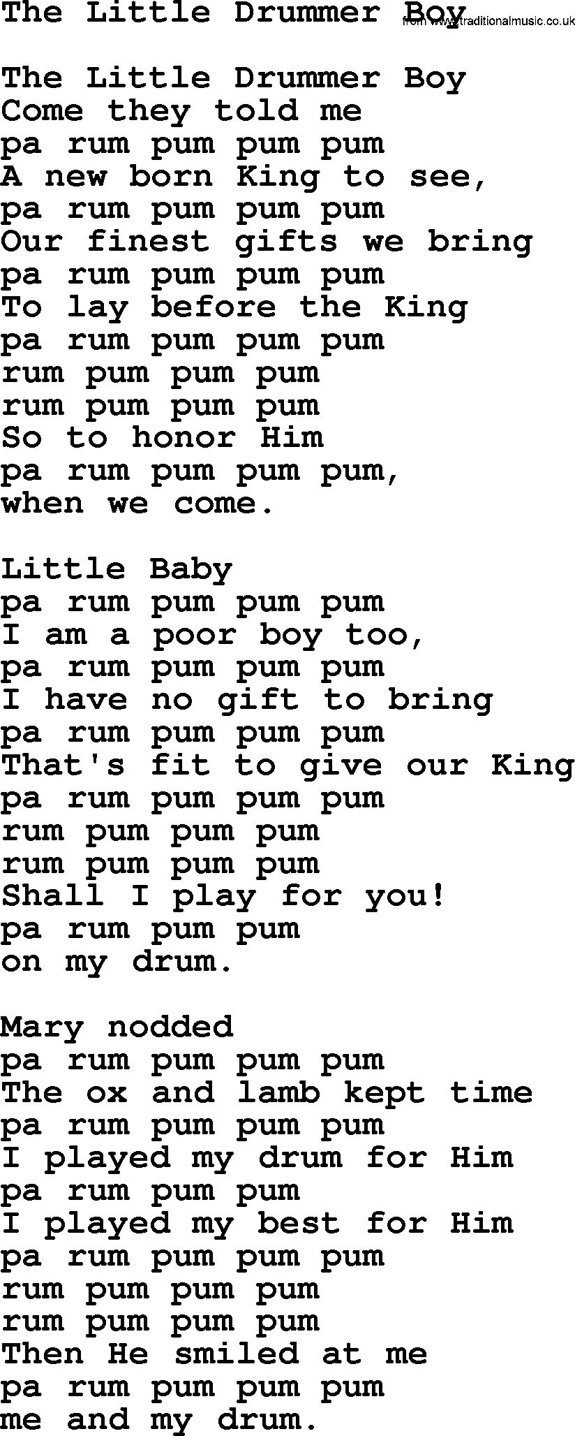 little black boy lyrics