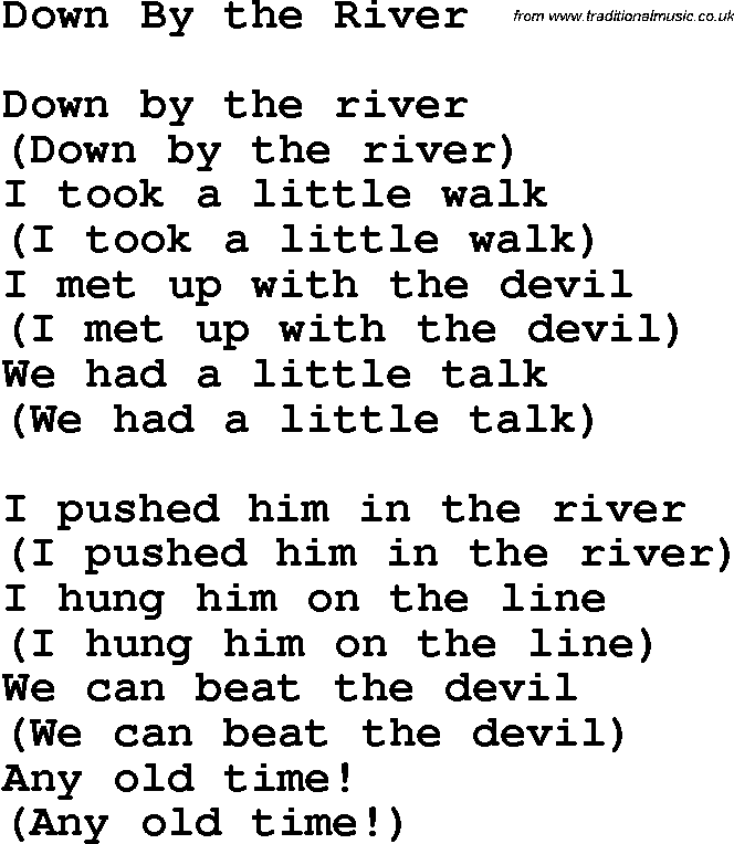 Download down by the river as pdf file for printing etc