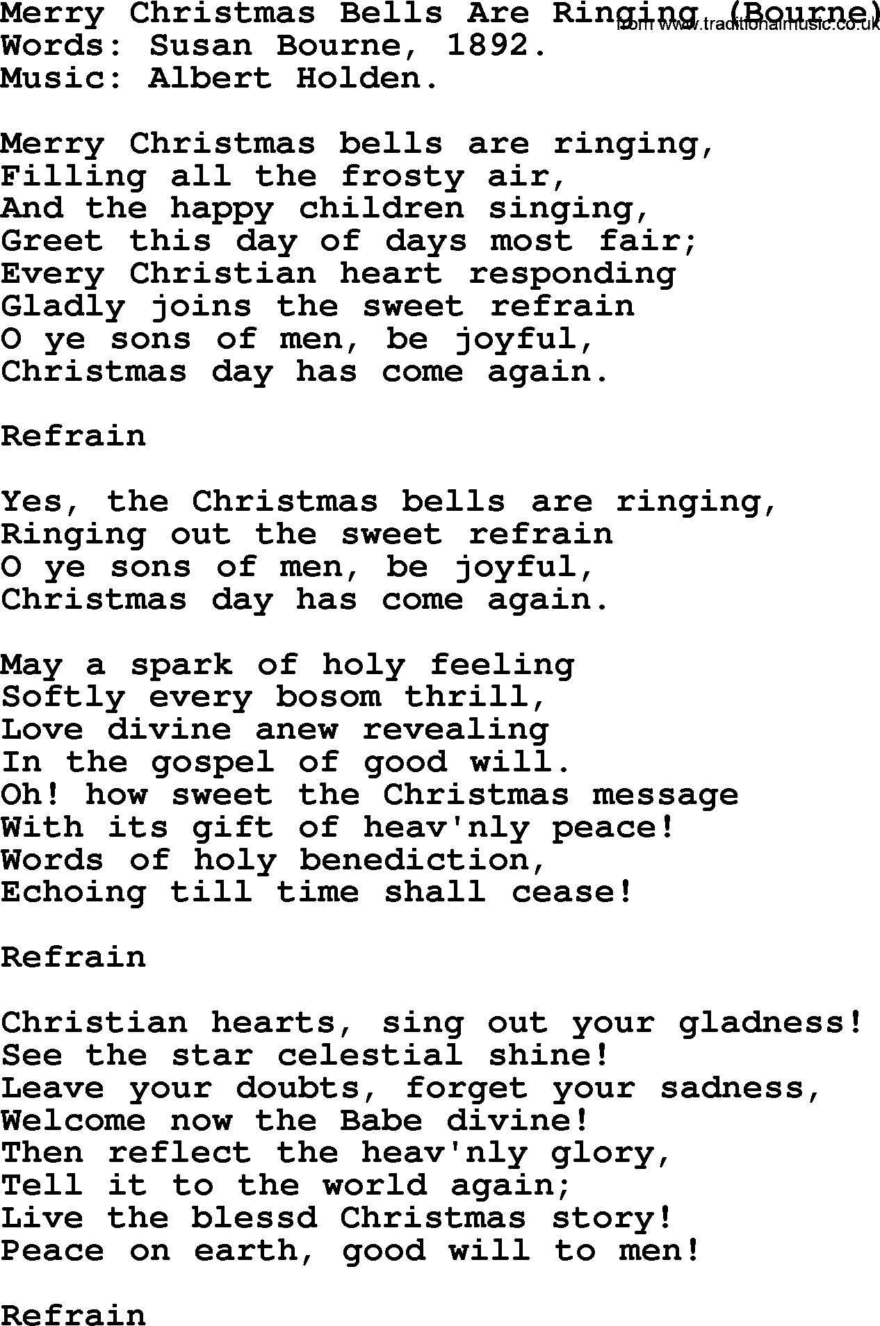 RENT - Christmas Bells Lyrics | MetroLyrics