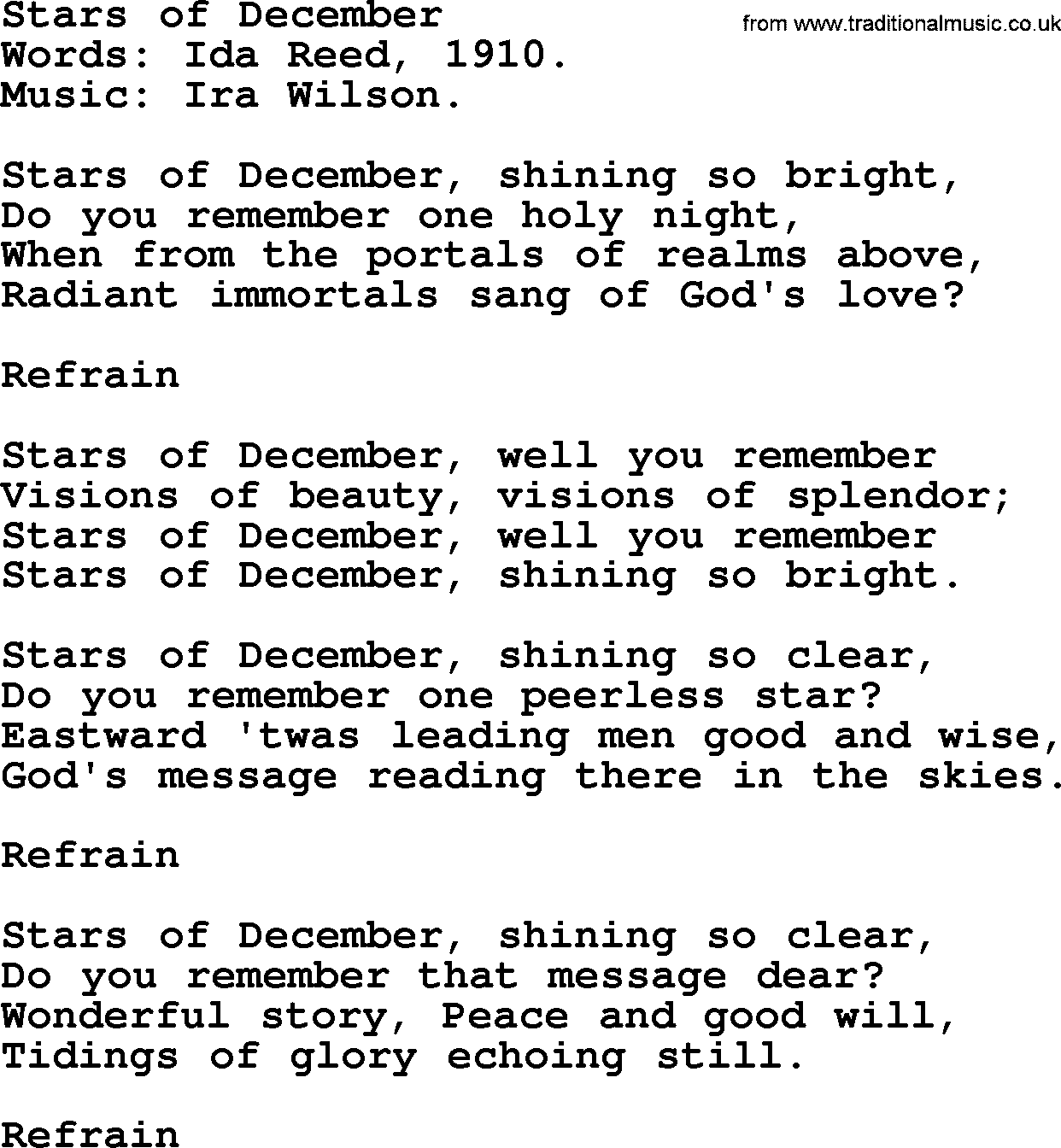 songs with december in the lyrics