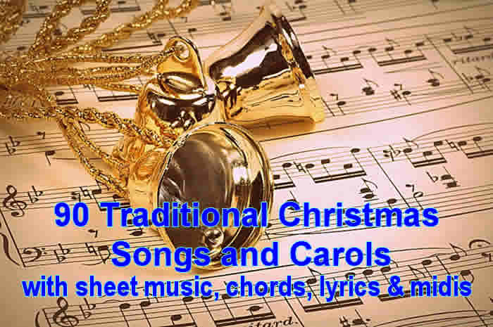 Traditional Christmas Music.Christmas Music And Carols Songbook With Lyrics And Scores