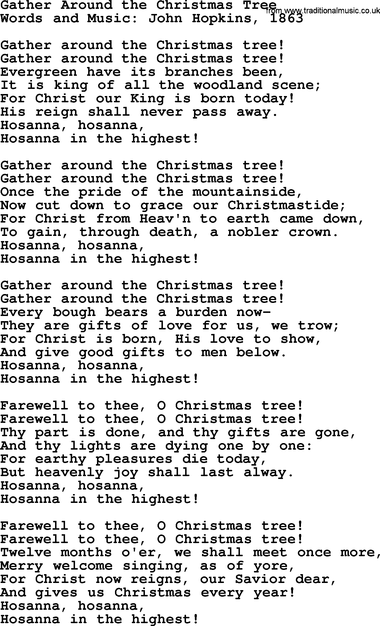 Christmas Powerpoints, Song: Gather Around The Christmas Tree ...