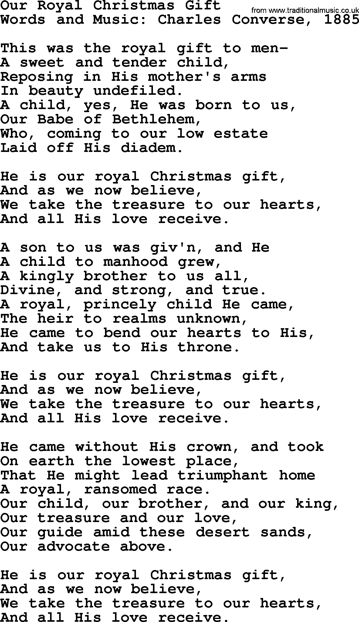 Christmas Powerpoints, Song: Our Royal Christmas Gift - Lyrics, PPT ...