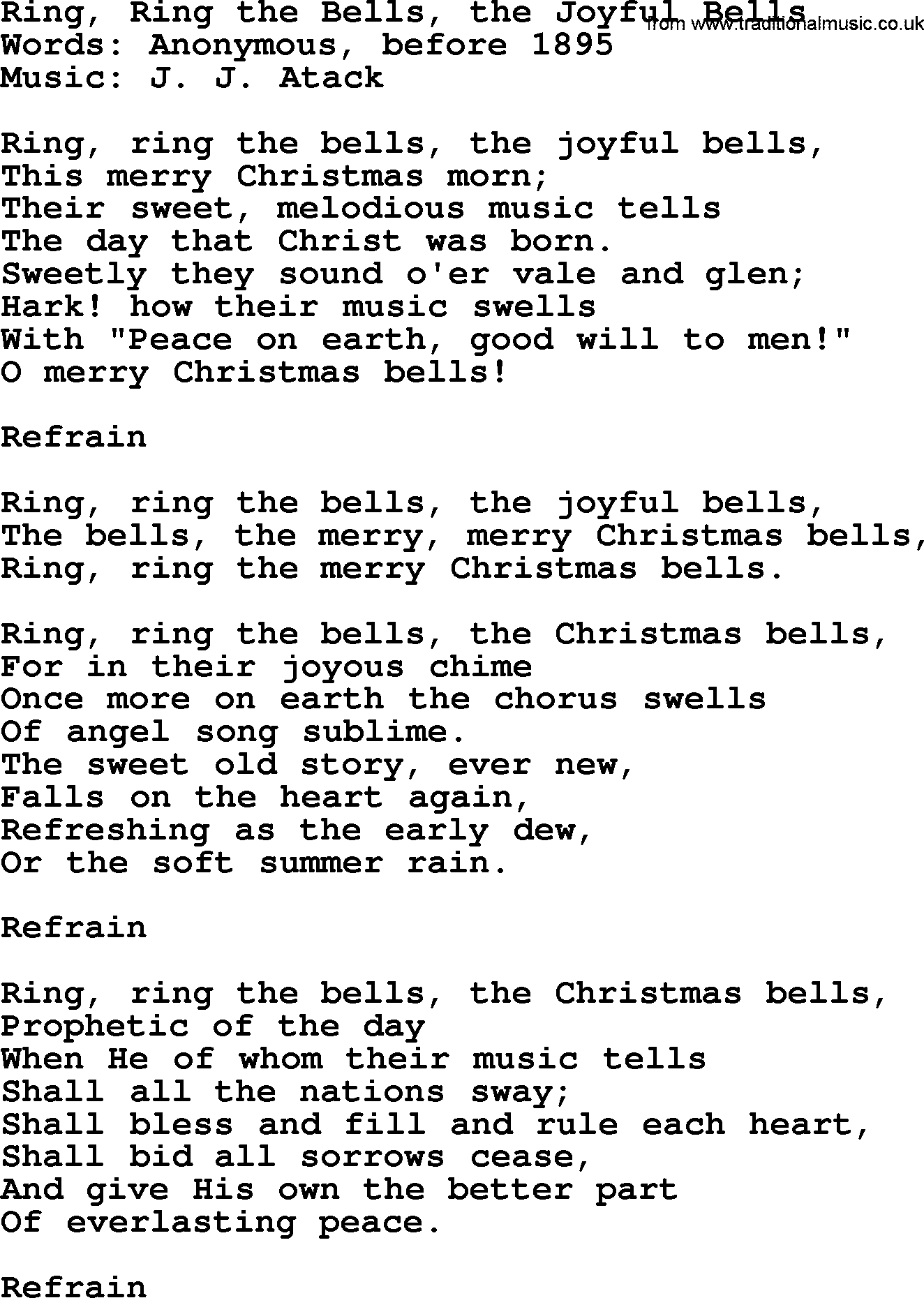 ring ring christmas song - Christmas Songs For Church