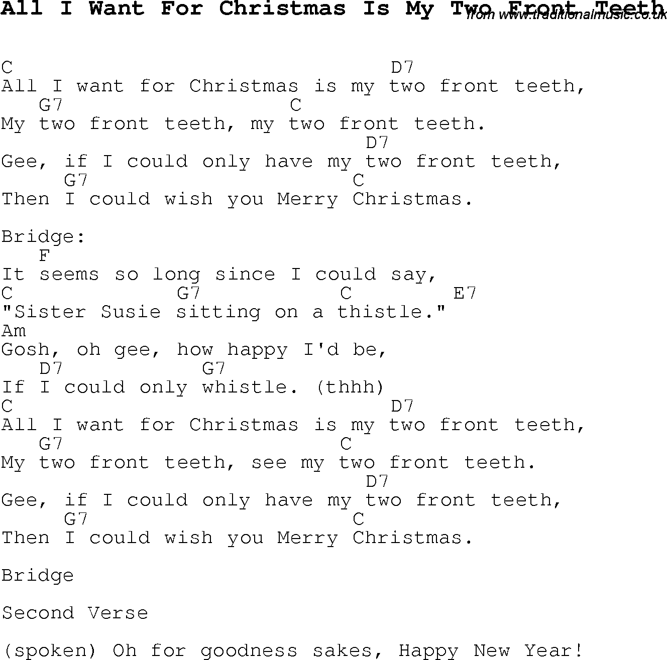 Lyrics All I Want For Christmas.Christmas Carol Song Lyrics With Chords For All I Want For