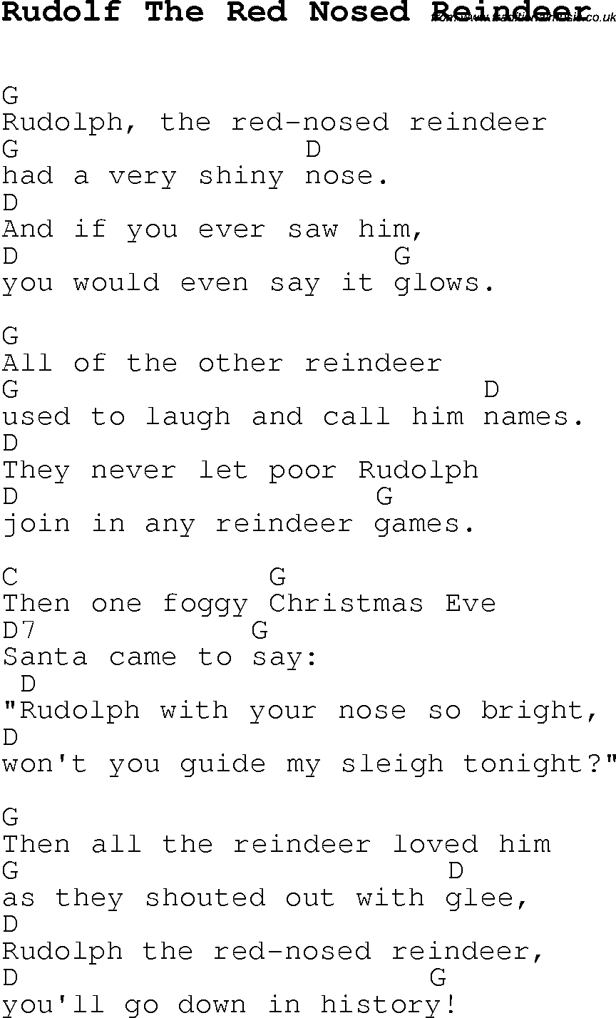 12+ Rudolph The Red Nosed Reindeer Lyrics