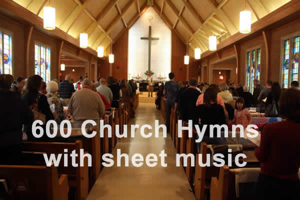 Church Hymns and Tunes - online hymnal with sheet music - index page