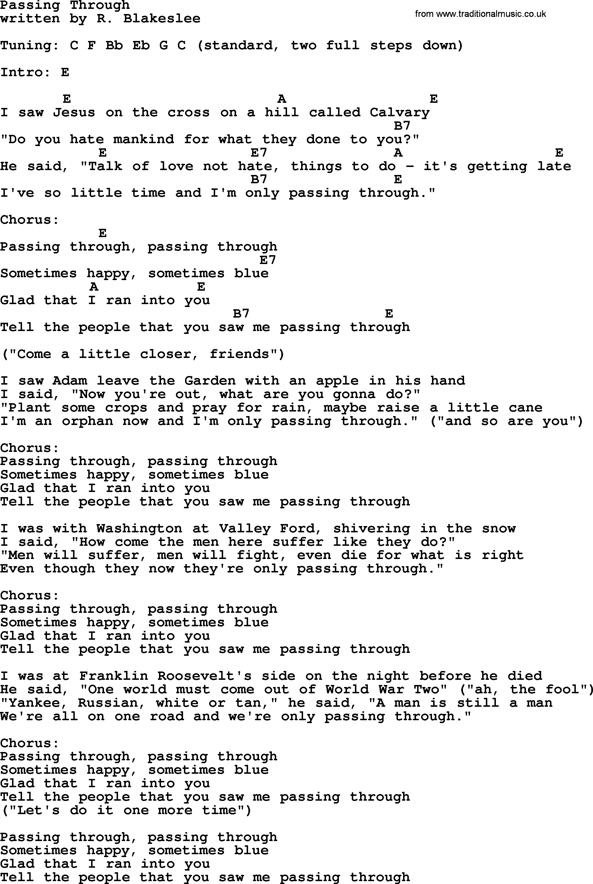 Leonard cohen song passing through lyrics and chords leonard cohen song passing through lyrics and chords hexwebz Image collections
