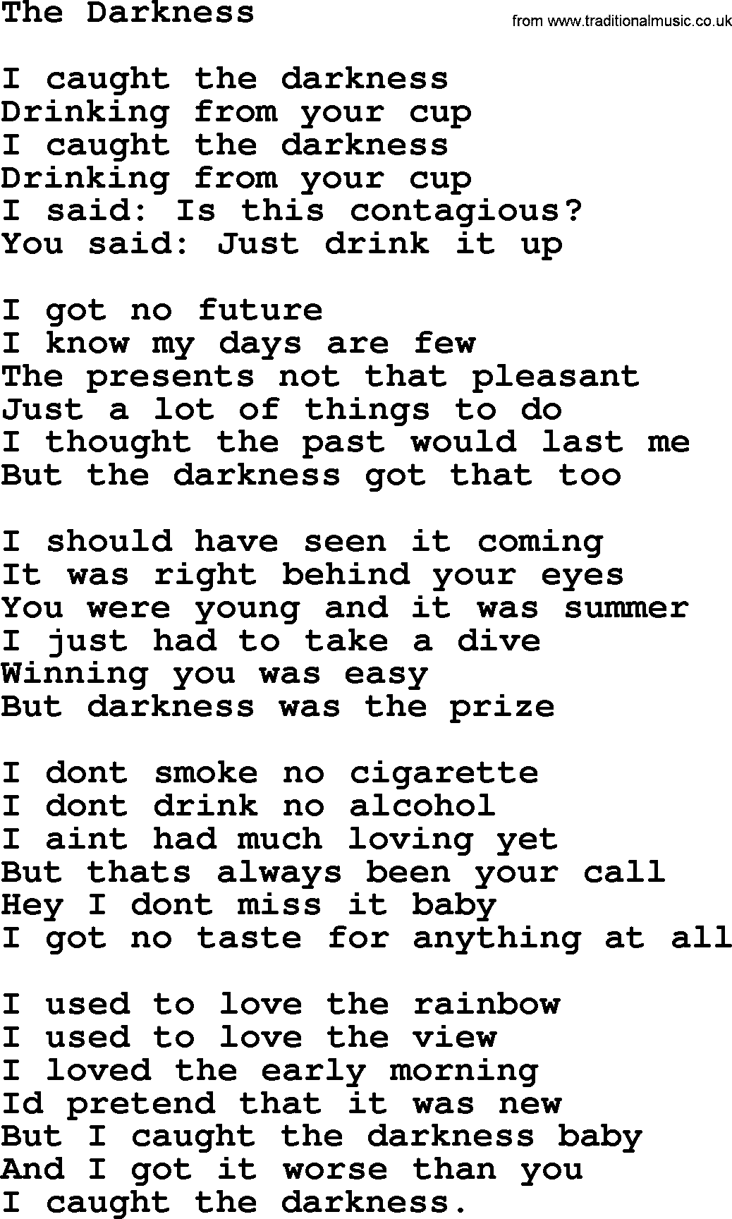 Leonard Cohen The Future Lyrics