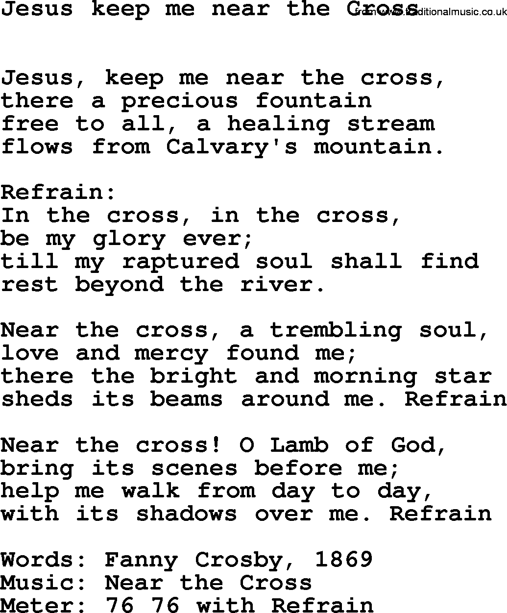 Jesus, Keep Me Near The Cross (Hymn) - YouTube
