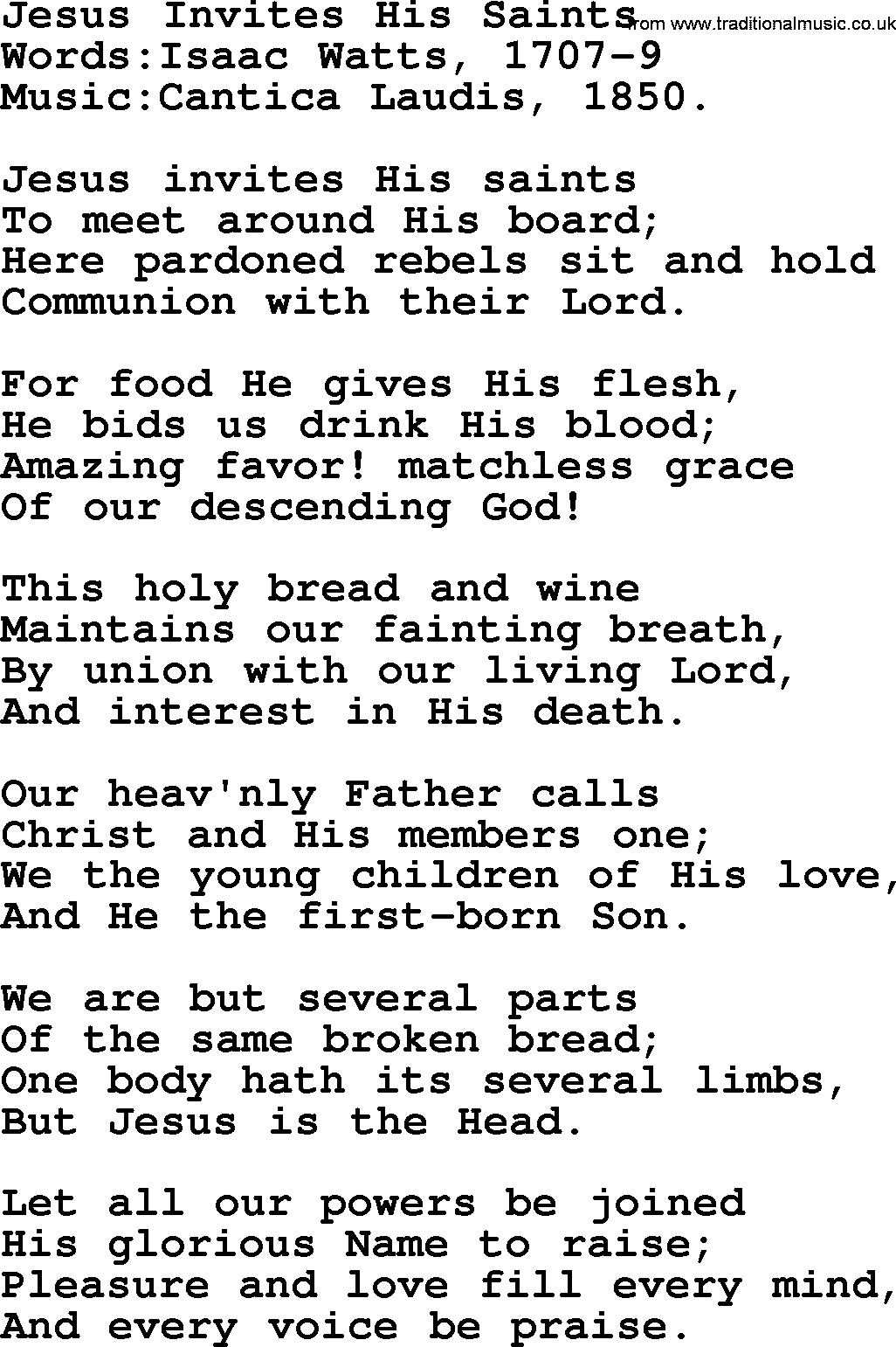 Hymns and songs for the eucharistcommunion jesus invites his christian hymns and song lyrics for communionthe eucharist jesus invites his saints stopboris Choice Image