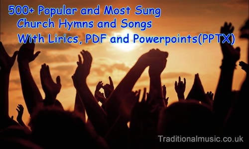 Popular & Most Sung Church Hymns & Songs with Lyrics, PDF and