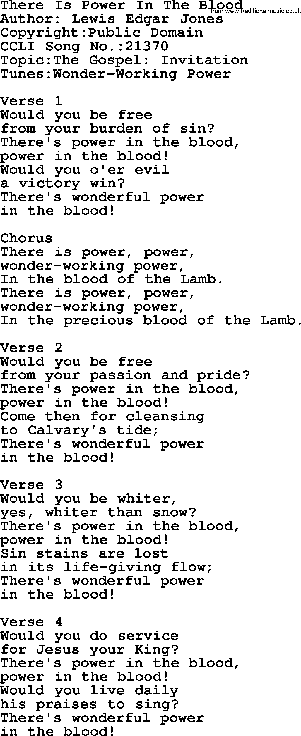 Most popular church hymns and songs there is power in the blood a collection of 500 most sung christian church hymns and songs title there stopboris Images