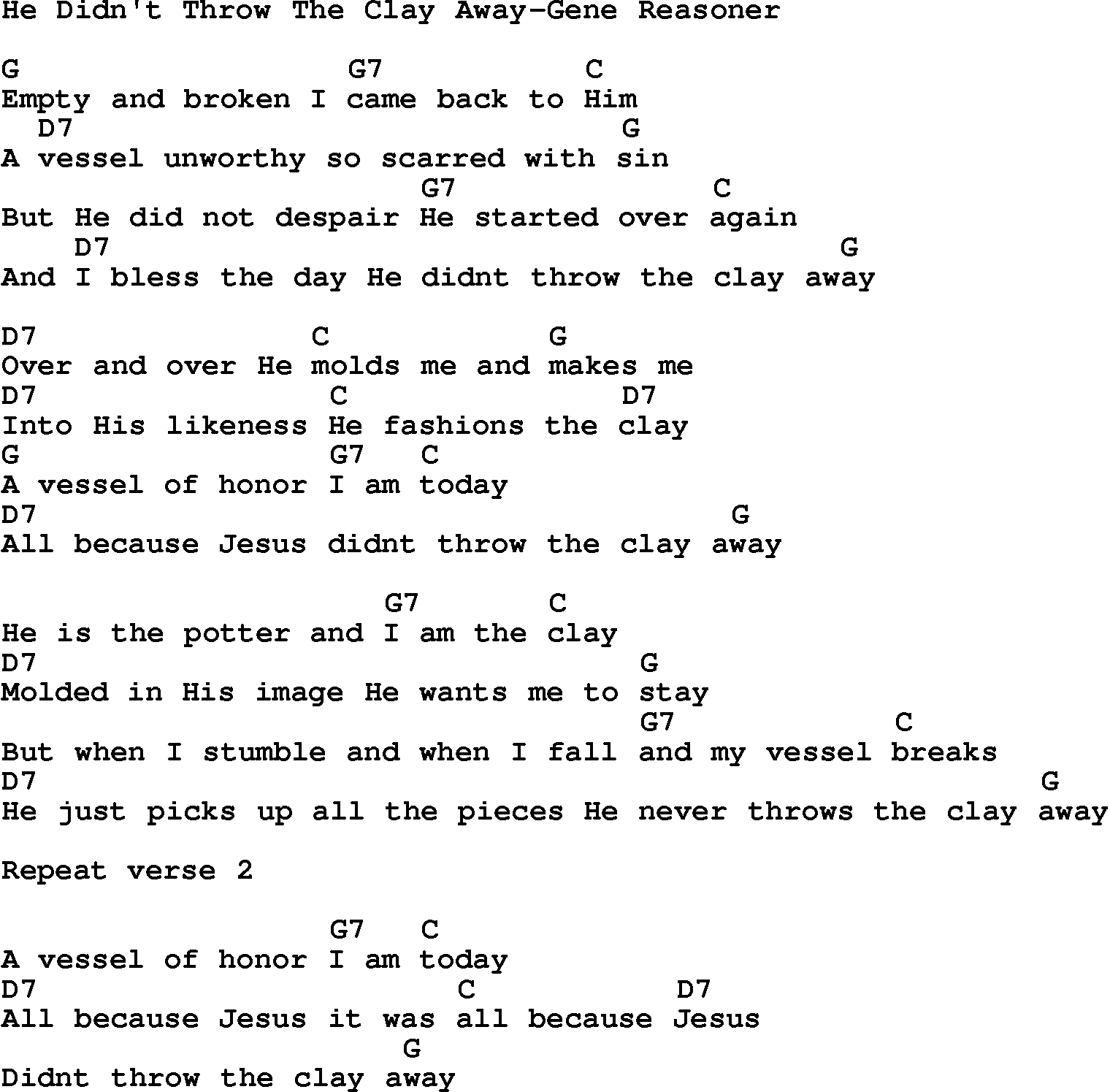 Country songs chords