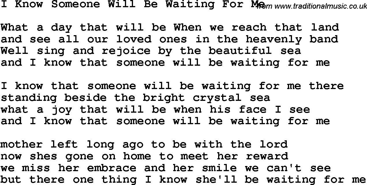 Songs about waiting for someone