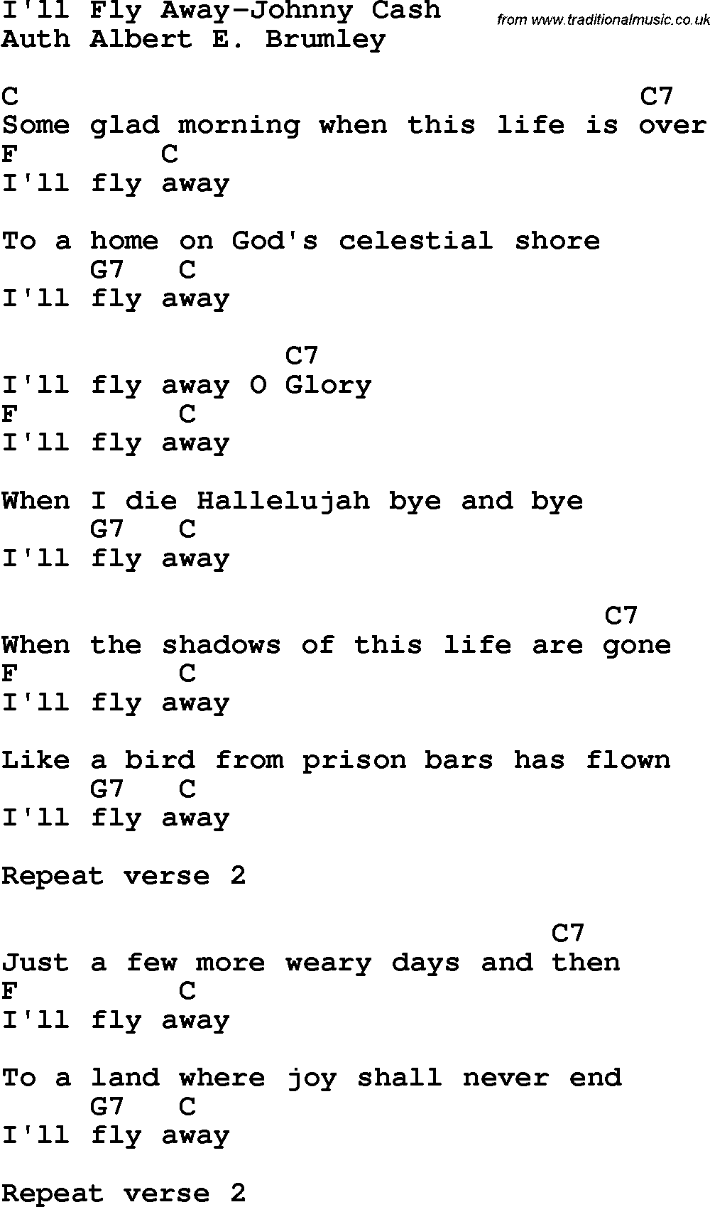I Fly Away Chords submited images.