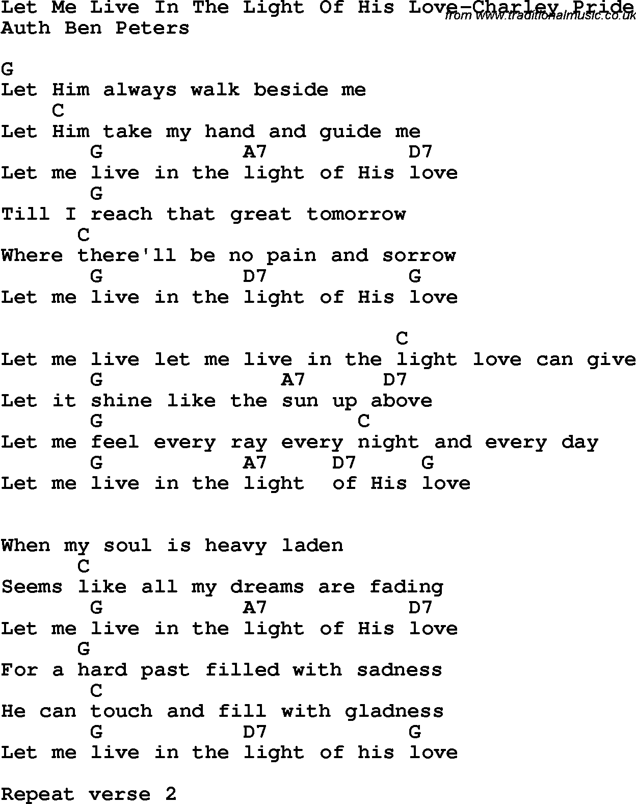 love light lyrics: